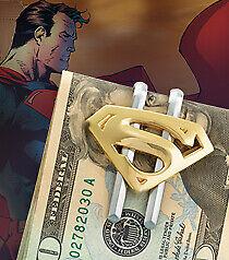 Superman Returns - Shield Money Clip Gold New