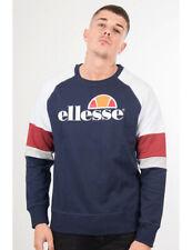 Ellesse Men NAVY RED WHITE GREY Crew Neck Sweatshirt Jumper Sweater S M L XL XXL