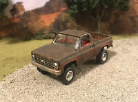1978 Chevy K10 4x4 Truck Rusty Weathered Custom 1/64 Diecast Barn Find Rust