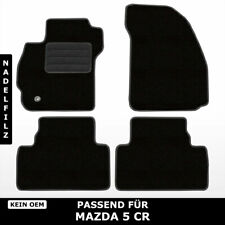 Fußmatten Passend für Mazda 5 CR (2005-2010) - Schwarz Nadelfilz 4tlg