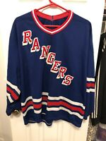 Vintage New York Rangers CCM Maska Jersey Size Large