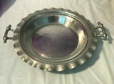 Vintage Everlast Forged Aluminum Pie Carrier with Pyrex Glass Pie Pan