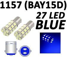 1157 7528 2057 BAY15D 27 SMD 5050 LED Blue Tail Turn Signal Car Light Bulb Lamp
