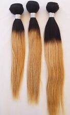 """14"""",16"""",18"""" Virgin Ombre Weft Hair, Straight, Human Hair Extensions, #T1B/27"""