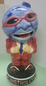 Planet Hollywood ceramic figural globe head man drink cup advertising/ad figure