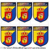 GRAN CANARIA Schild KANARISCHE INSELN Spanien, Handy Mini-Aufkleber 40mm x6