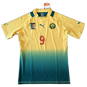 2011/13 Cameroun Away Jersey #9 Eto'o 2XL Puma Player Issue fitted WildLions NEW