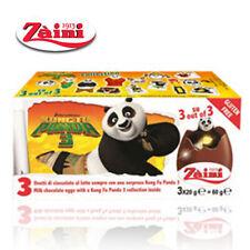 [ZAINI] KUNG FU PANDA Milk Chocolate Eggs Collectible Toys Inside 3 Eggs ITALY