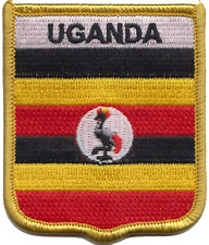 Uganda Flag Shield Embroidered Patch Badge