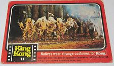 Scanlens King Kong Card #11 1976 Coloured Photo RARE VHTFNatives strange Costume