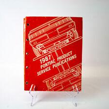 GM Pontiac PSP Product Service Publication 1987 - S-87-PSP-4