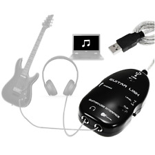 Guitar to USB PC Mac MIDI Interface Link Audio Recording Music Recorder Adapter