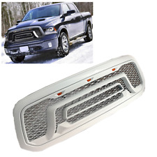 For 13-18 Dodge Ram 1500 Rebel Style Bumper Grille Painted White W/LED Letters