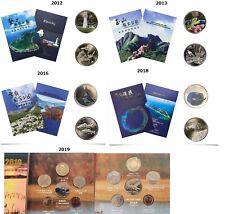 Taiwan National Park 2012, 2013,2016 ,2018,2019 Year coin 5 sets