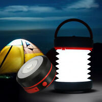 Foldable Solar LED Camping Lantern Light Hand Lamp USB Rechargeable Flashlight