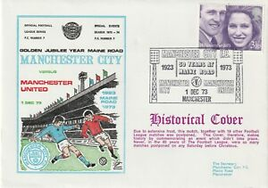 1 DEC 1973 MANCHESTER CITY v MANCHESTER UNITED SCARCE DAWN FOOTBALL COVER
