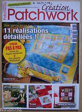 ) catalogue CREATION PATCHWORK N° 7 - 2007 / 2008 - 11 réalisations détaillées