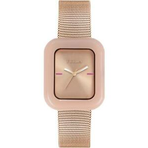 Womens Wristwatch FURLA ELISIR R4253111501 Stainless Steel Mesh Gold Rose
