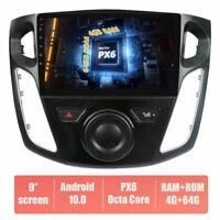 PX6 für Ford Focus 2012-2017 ANDROID 10.0 AUTORADIO GPS NAVI 64GB ROM DAB+ Wifi