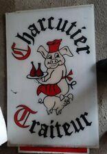Enseigne amusante Charcuterie Traiteur Cochon plexiglas 1m x 64cm