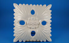 "Ceramic Wall Decor ~ Cream Color Decorative Hanging ~ 3D Fluted Design 10"" x 10"""