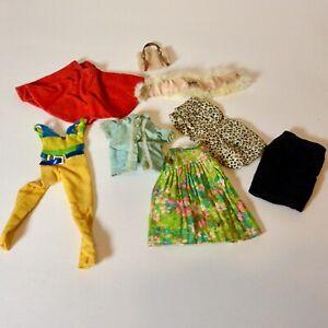 Vintage Barbie Francie TENTERRIFIC Dress Pak Sheath Skirt Purse Pajama Party FUR