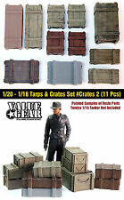 1/16 Scale Universal / Generic Crates #2 (11 Pieces) resin scenic accessories