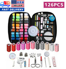 USA 126Pc Sewing Kit Scissors Needle Thread For Home Stitching Hand Sewing Tool