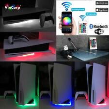 Wifi RGB LED USB Design Unterlage / Ständer Standfuß Acryl für PlayStation 5 PS5