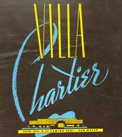 Vintage 1940s Villa Chartier Restaurant Menu El Camino Real San Mateo California