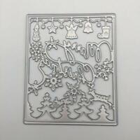 Christmas Dies Cut Card Template Embossing Frame Metal Cutting  Die Scrapbooking