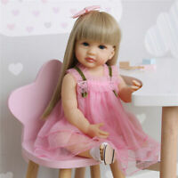 "22"" Lifelike Reborn Doll Soft Full Body Silicone Baby Girl Doll Toddler Girl"