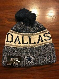 NFL Dallas Cowboys 2020 NEW ERA SIDELINE ON FIELD SPORT KNIT Beanie POM POM