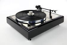 Restaurierter & Modifizierter Thorens TD 146 Plattenspieler schwarz & Edelstahl