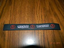 "New-Marilyn Manson ""Antichrist Superstar"" Rubber wristband Bracelet"