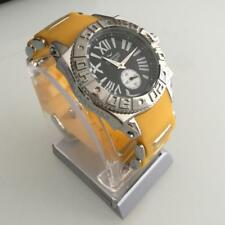 Aquaswiss Swissport M Ladies Wrist WatchYellow Rubber and Stainless Steel Band