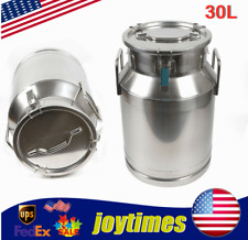 30l Stainless Steel Milk Can Storage Bucketpotbarrelcontainer Silicone Seal