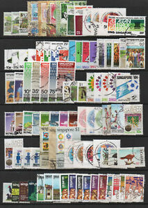 SINGAPORE accumulation  of good used stamps issued 1979 to 1987