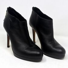 LK Bennett Boots Safia Size 38.5 8.5 Platform Black Leather Ankle booties