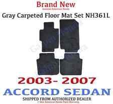 Genuine OEM 2003-2007 Honda Accord 4dr Gray Carpet Floor Mat Set 83600-SDA-A02ZB