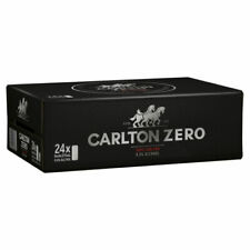 Carlton Zero Non-Alcoholic Beer 375ml Can (Pack of 24)