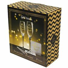 Gold Prosecco Cocktail Set Glasses Straws Coasters Prosecco Time Novelty Gifts