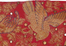 Antique Chinese Silk Metallic Embroidery Banner With Inscriptions
