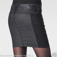 NEW - NWT - RRP $169- Womens Stunning G-Star Raw  'LYNN SKIRT' Dark Coated Skirt
