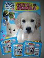 Panini Animal World- Cute Animals 64 Page Album w/ Poster + 3 sticker packs NEW