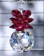 m/w Swarovski 30mm FINEST Ball Crowned with Christmas Red Lilli Heart Designs