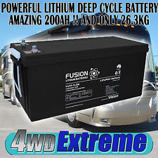 MOTORHOME LITHIUM DEEP CYCLE 12VOLT 200AH BATTERY SOLAR CAMPER TRAILER CARAVAN