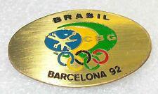 Olympic pin NOC  BRASIL 1992 BARCELONA SPAIN C.B.G. rare