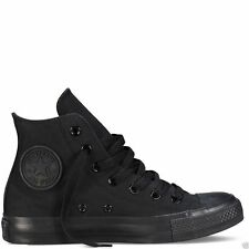 CONVERSE ALL STAR HI TOPS CANVAS PUMPS TRAINERS SHOES SNEAKERS BLACK MONO