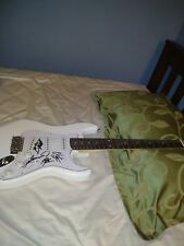 Blackberry Smoke Country Musicans Band Signed Irin White Full Size Guitar